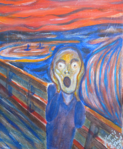 Mon cri d'après E Munch