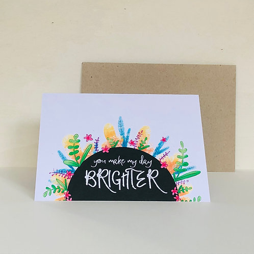 Brighter Eco Greeting Card