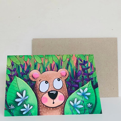 Jungle Bear Eco Greeting Card