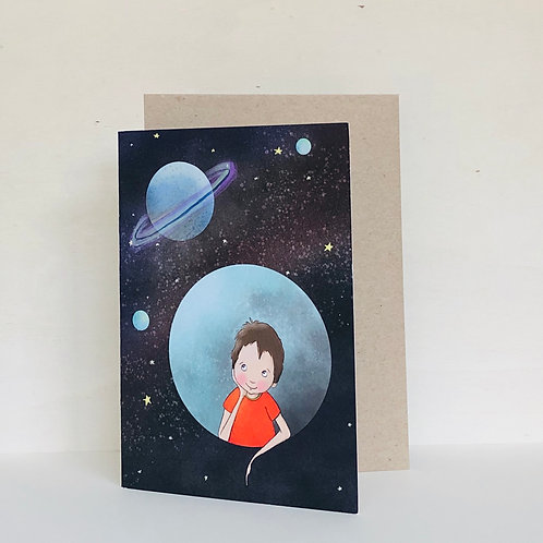 Space Dreaming Eco Greeting Card