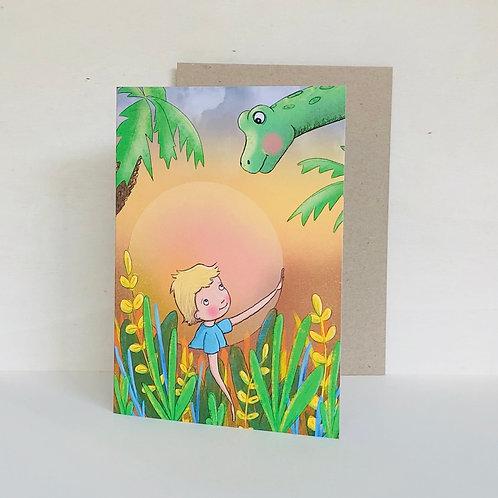 Dino & Me Eco Greeting Card