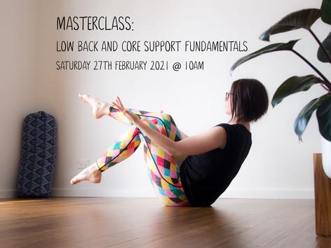 Masterclass: Low Back + Core Fundamentals (February 2021) (1249)