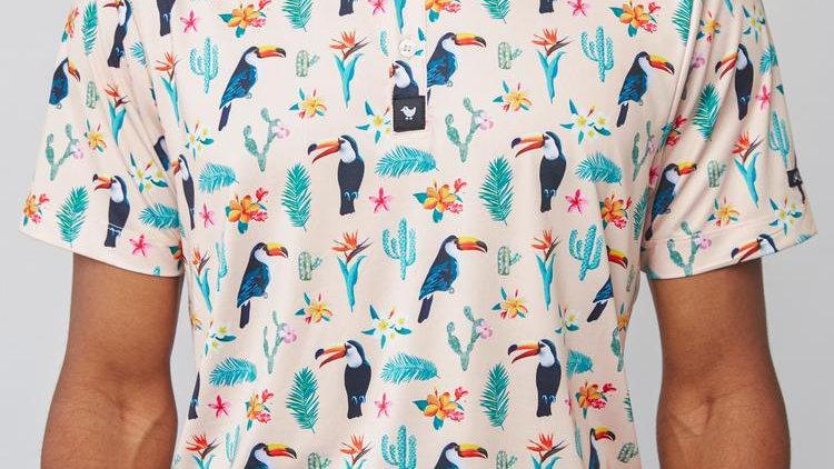 Bad Birdie Polo - Tropical Desert