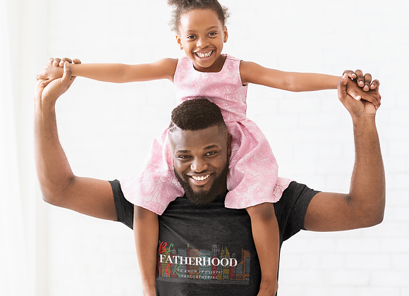 Black Fatherhood Unisex T-Shirt