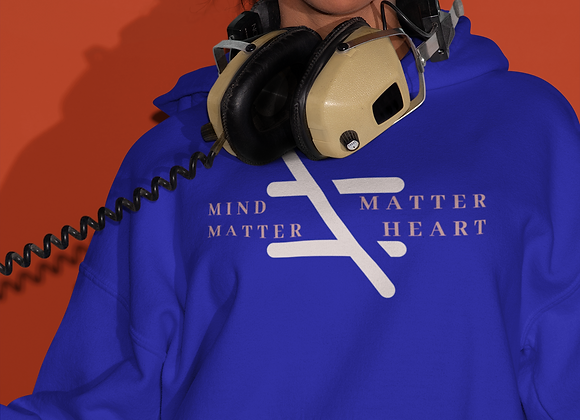 Matter of the Heart vs Mind over Matter Hoodie