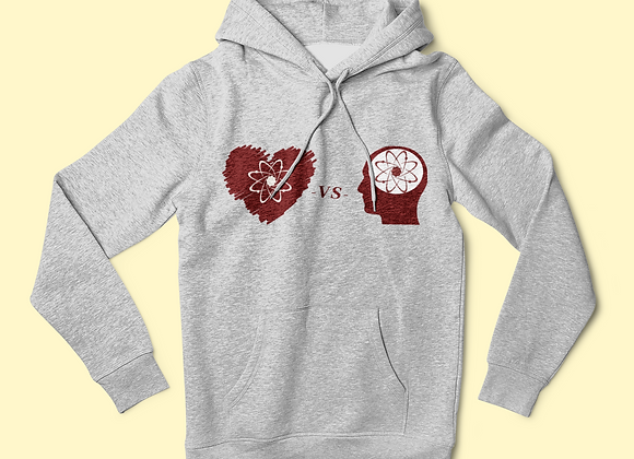 Matter of the Heart vs Mind over Matter Logo Hoodie