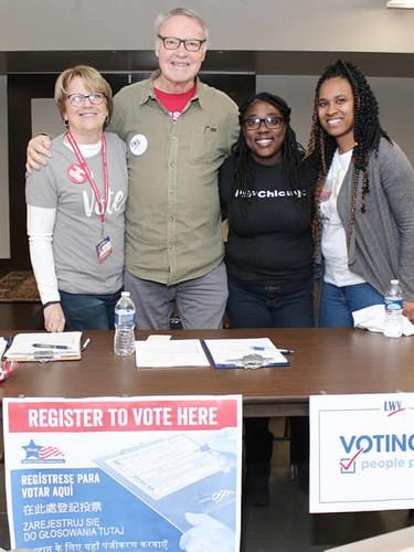 Hosted Voter Registration Drive