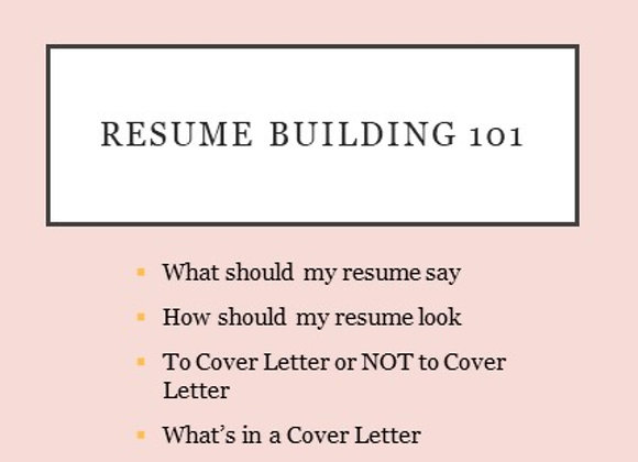 Build your own Resume 101