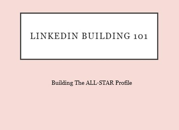 Build your LinkedIn 101