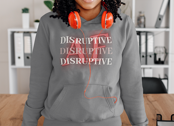 Disruptive AF Hoodie w/ Colorful Letters
