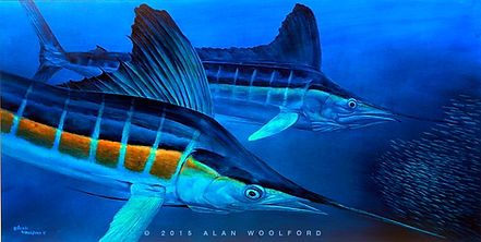 white marlin painting