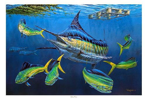 blue dolphin mahi painting