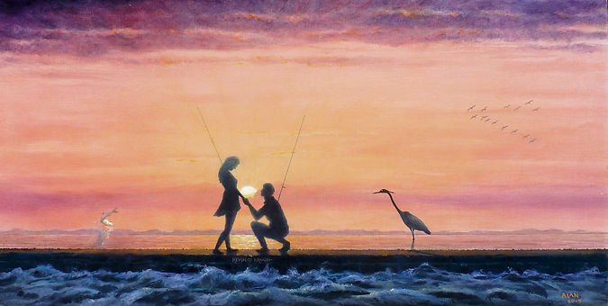 """THE PROPOSAL"" oil painting"