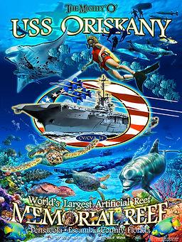 USS Oriskany Memorial Reef art poster