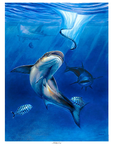 cobia and eel painting