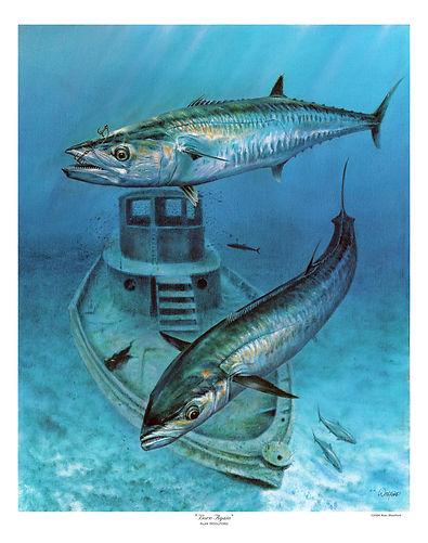 smoker king mackerel painting