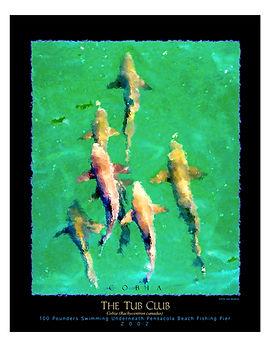 tub club school of cobia art poster