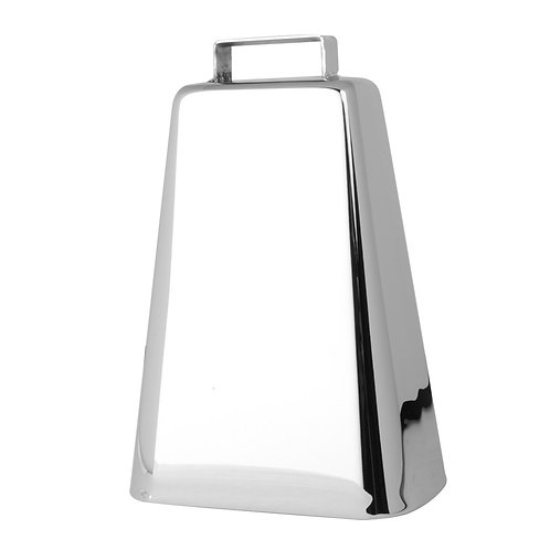 Chrome Cow Bell-Medium