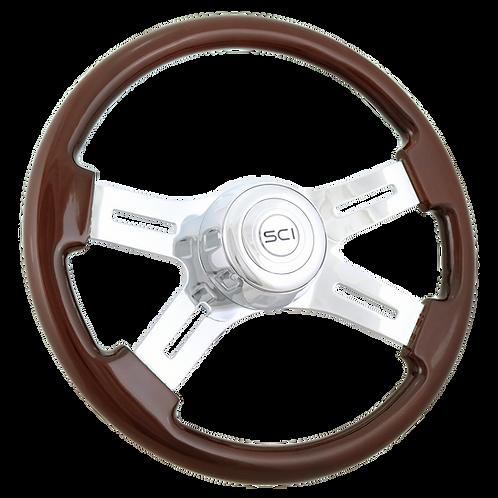 """16"""" Classic Mahogany Steering Wheel"""