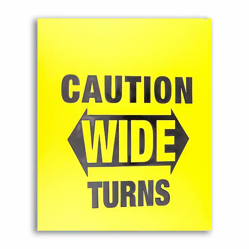 Yellow Caution Mud Flap