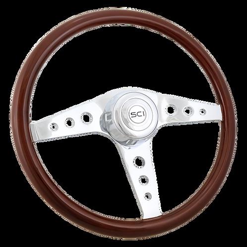 "18"" Racer Mahogany Steering Wheel"
