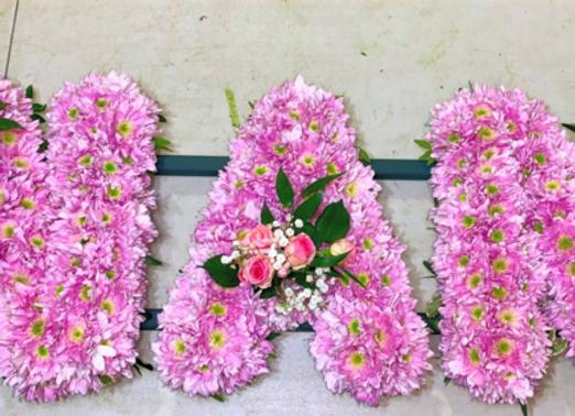 Nan Floral Letter Tribute