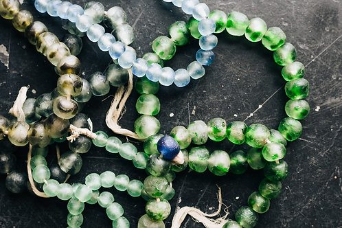 Recycled Glass Beads from Ghana Medium beads