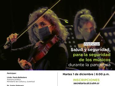 UTM ofrece conversatorios virtuales sobre temas de interés para el gremio de la música