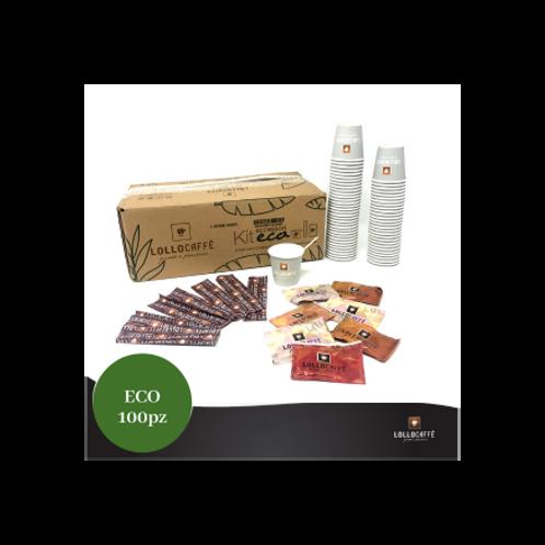 Kit 100 Becher / Rührstäbchen / Zucker