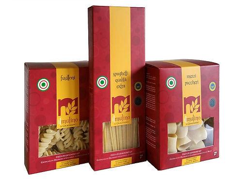 Pastabox mit den beliebtesten Pastaformaten