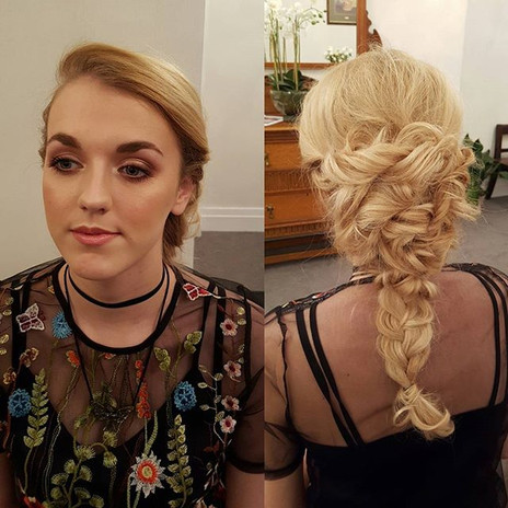 Hair and makeup from today's wedding fay