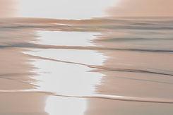 Sunrise Abstract ocean art Wainui Beach New Zealand