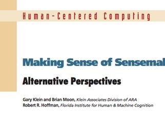 Making Sense of Sensemaking 1: Alternative Perspectives