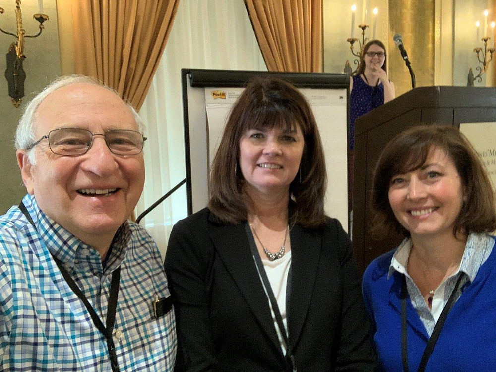 Keynote Speakers (Ben Shneiderman, Mica Endsley, and Wendy Jephson) at NDM14 at the Marine's Memorial Hotel, San Francisco, CA, USA. Photo Credit: Ben Shneiderman.