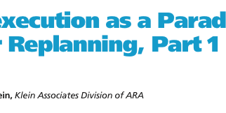 Flexecution as a Paradigm for Replanning