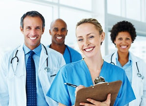 Nurses and doctor and healthcare training