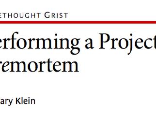 Performing a Project Premortem