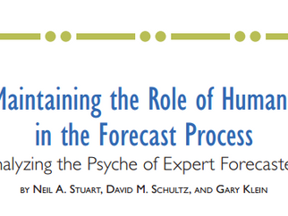 Analyzing the Psyche of Expert Forecasters