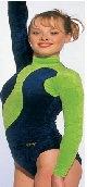 TVL Gymnastikanzug blau/grün