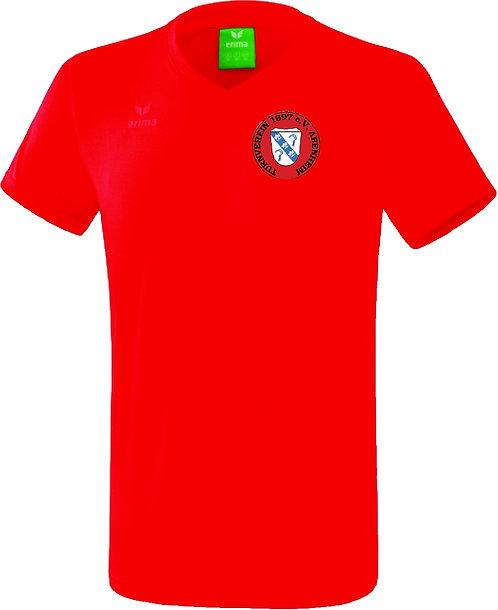 TVA T-Shirt Baumwolle V-Ausschnitt