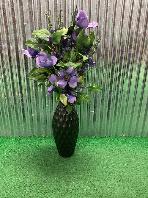 Purple artificial vase