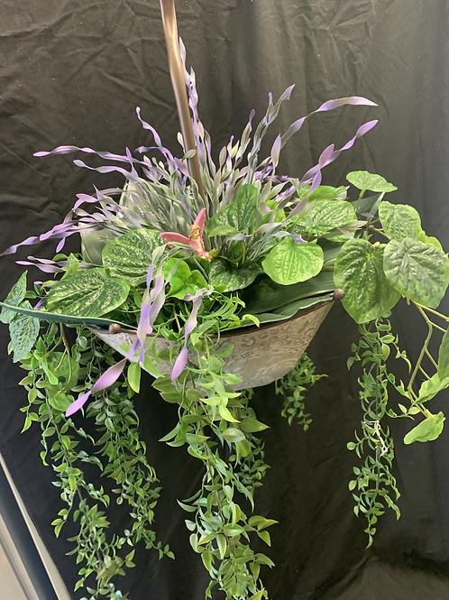 Artificial hanging umbrella (purple)