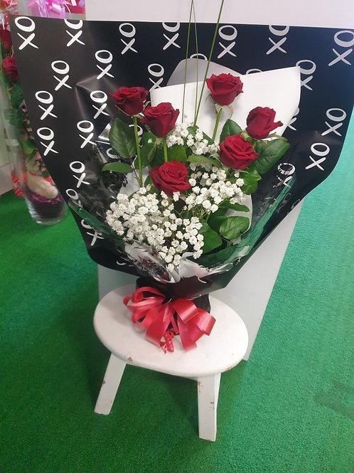 Fresh Red Rose Wrap