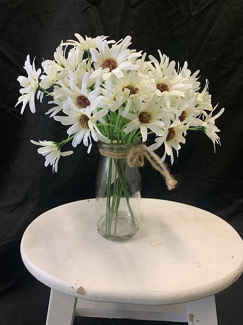 Artificial Daisy pot (white)
