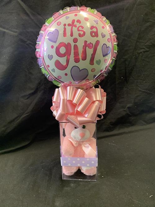 It's a girl teddy & balloon!