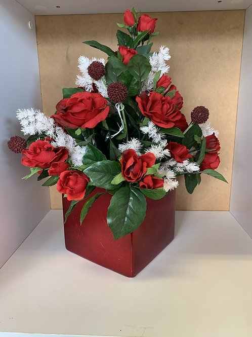 Red Artificial arrangement