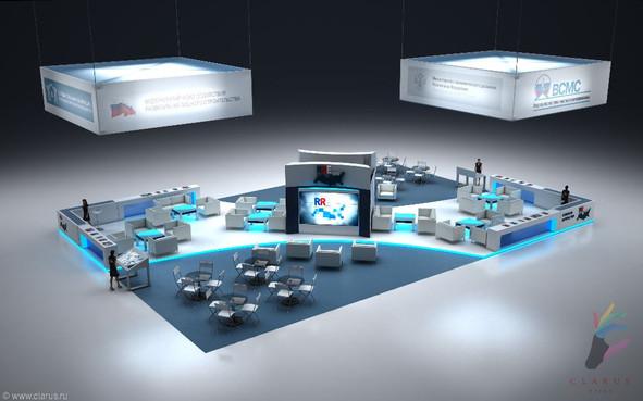 Центральная Lounge-зона для форума РусРеалЭкспо 2013