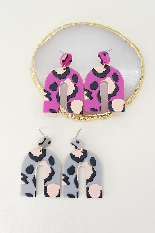 Leopard Arch Earrings