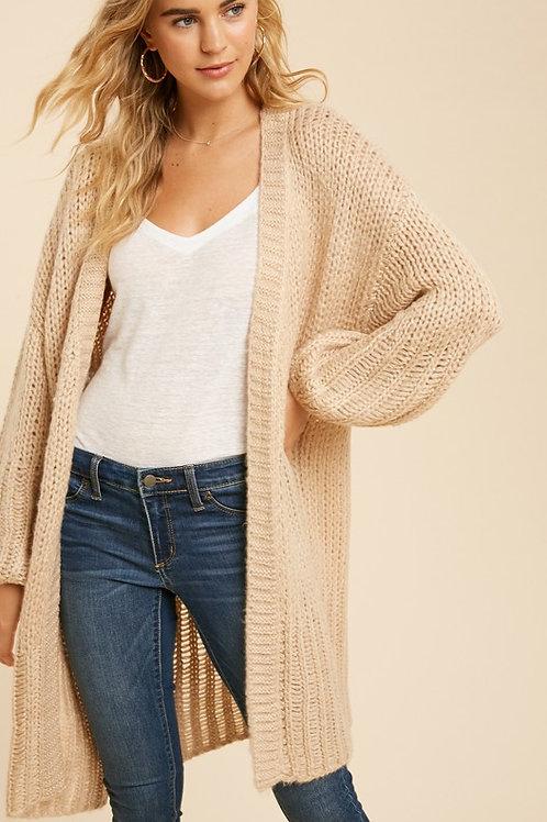 Pale Blush Knit Cardigan