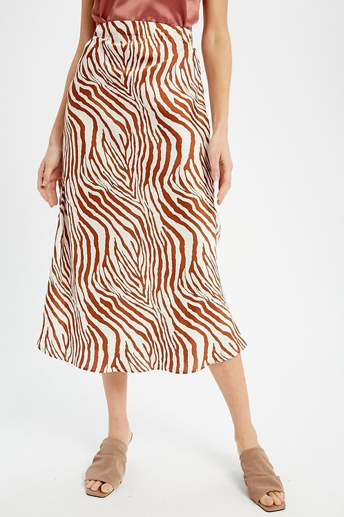 Rust Zebra Skirt